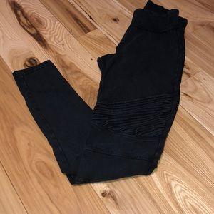 BP Black Moto style Leggings M